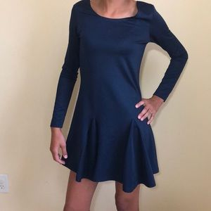 Lucca Couture navy blue skater dress, size S